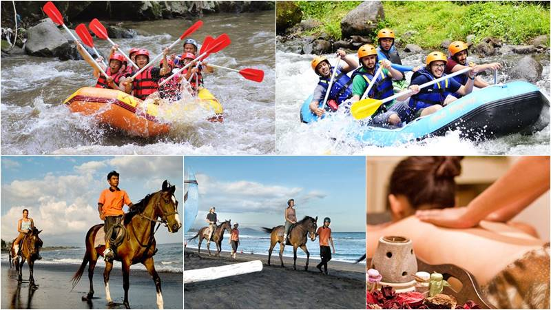 Bali Rafting + Horse Riding + 2 Hours Spa 1