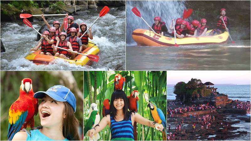 Bali Rafting + Bali Bird Park + Tanah Lot Tour 1