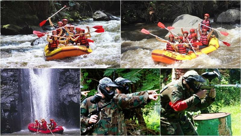 Bali Rafting + Bali Paintball Tour 1