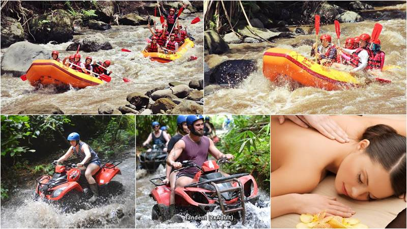Bali Rafting + ATV Ride + 2 Hours Spa 1