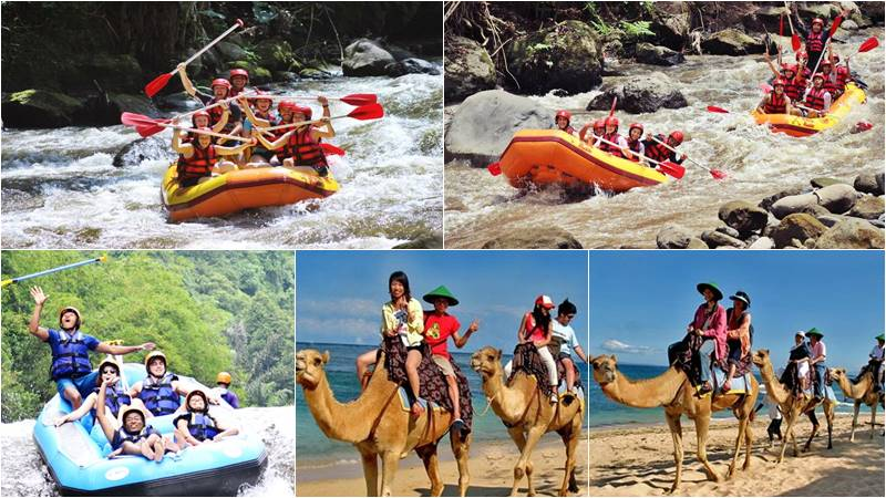 Bali Rafting + Camel Ride Tour 8
