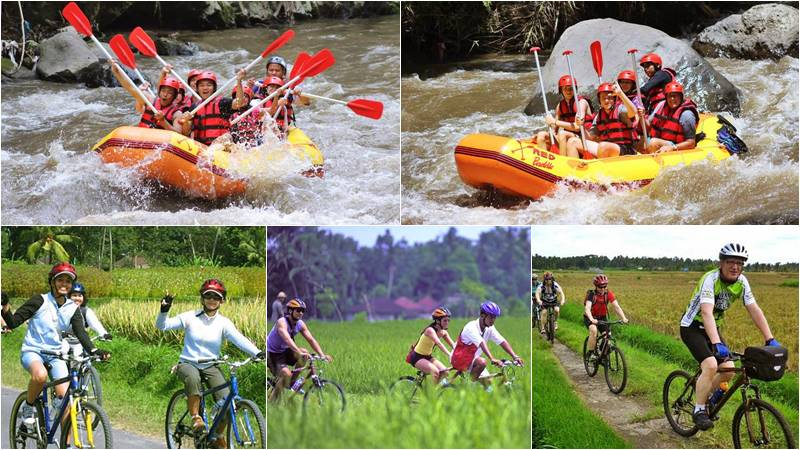 Bali Rafting + Ride Paddy & Village Cycling Tour 7