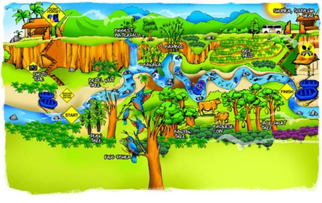 Sobek Rafting Ayung Classic Map